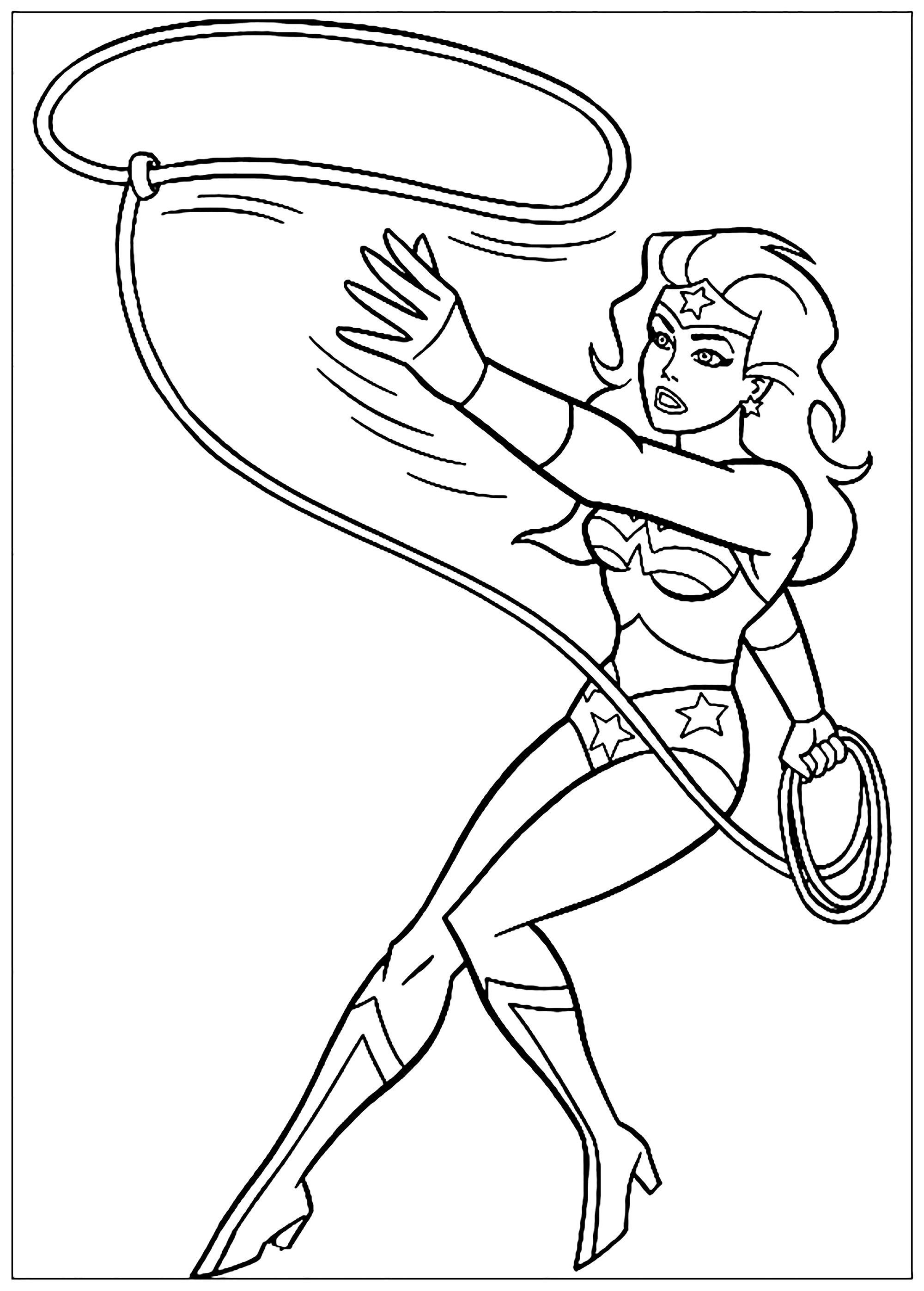 Wonder Woman - Wonder Woman Kids Coloring Pages