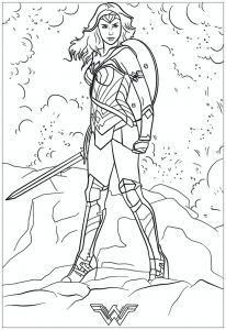 Wonder Woman Free Printable Coloring Pages For Kids