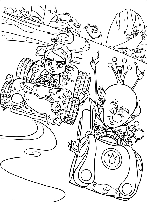 Coloring for kids wreck it ralph