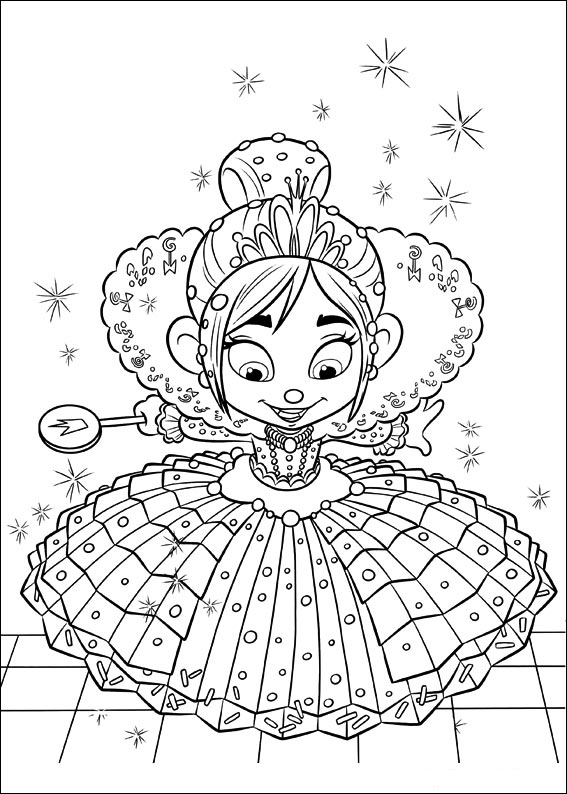 Cute free Wreck-It Ralph coloring page to download