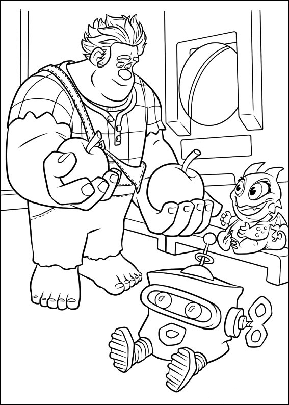 Printable Wreck-It Ralph coloring page to print and color
