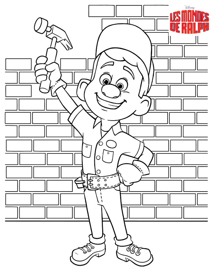 Free Wreck-It Ralph coloring page to print and color