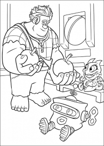 Coloring page wreck it ralph to color for children