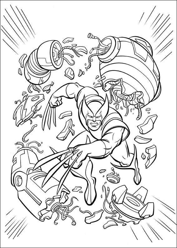X Men coloring page with few details for kids