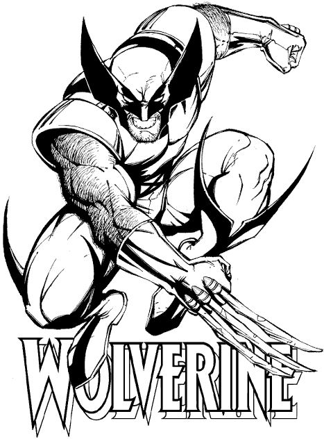Beautiful X Men coloring page to print and color