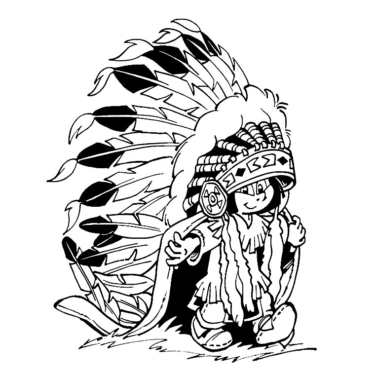 Yakari coloring page with few details for kids