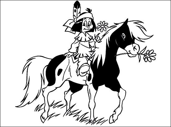 Yakari coloring page to download