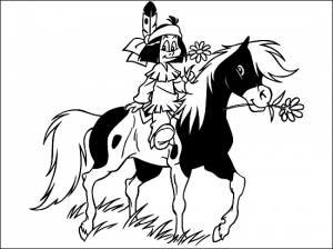 Coloring page yakari for children
