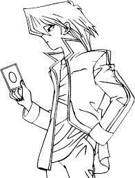 Simple Yu Gi Oh coloring page for kids