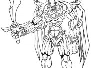 Yu Gi Oh Coloring Pages for Kids