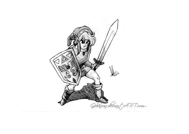Simple Zelda coloring page