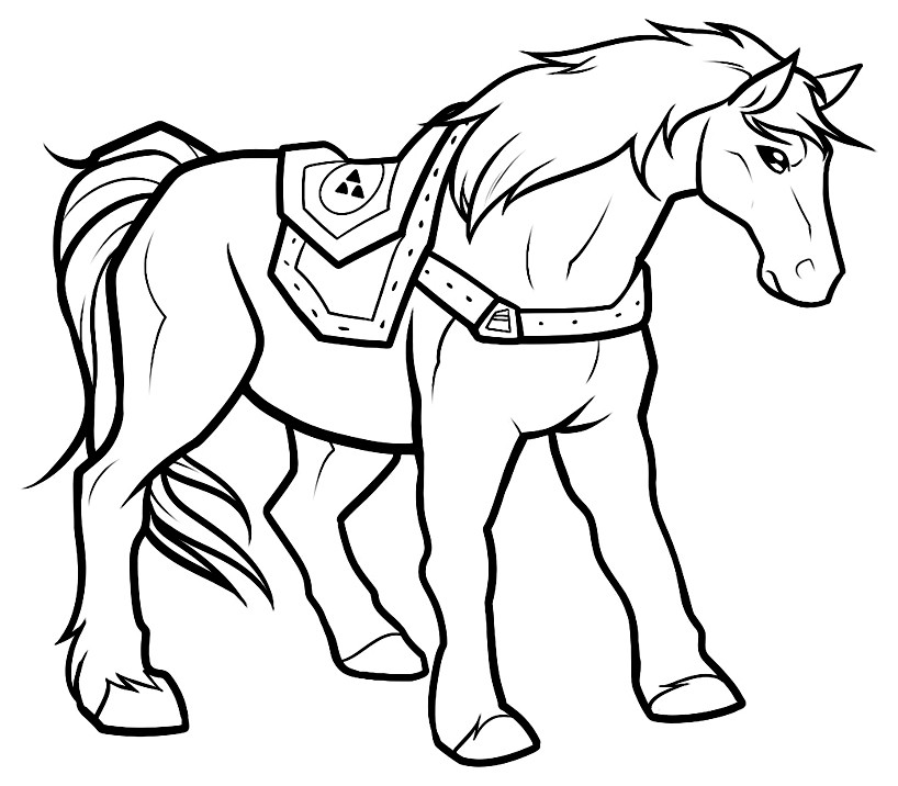 Zelda coloring page to download