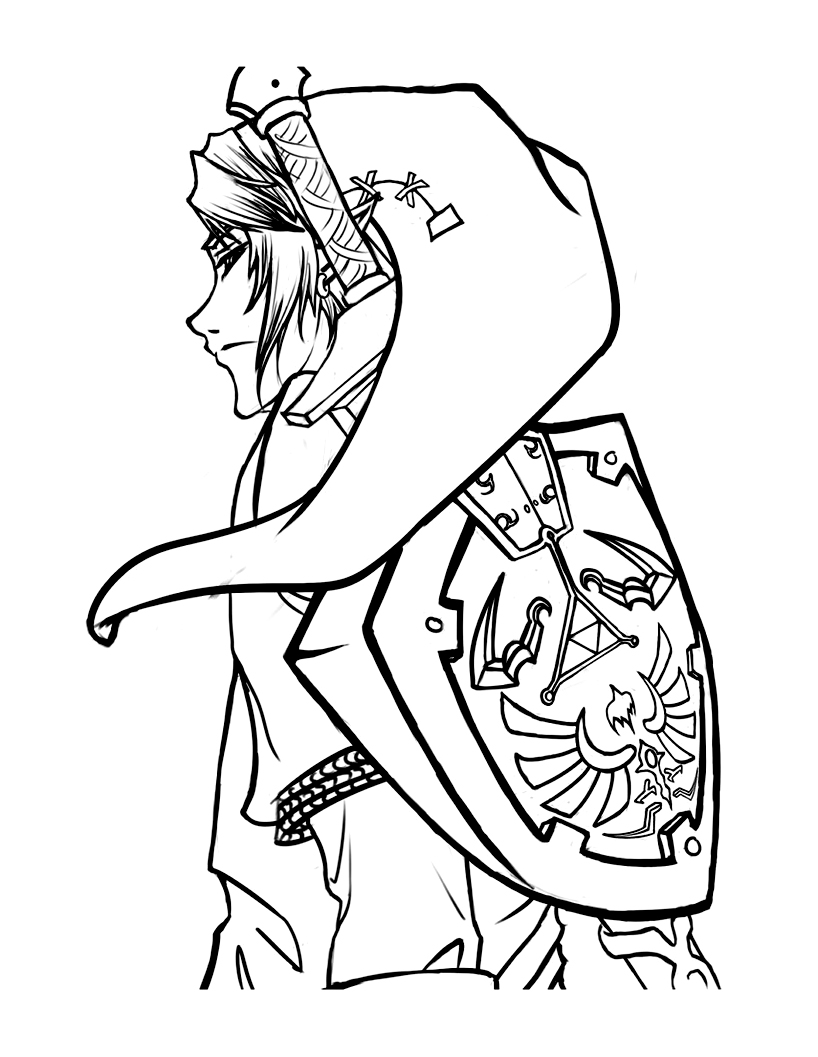Zelda coloring page to download for free