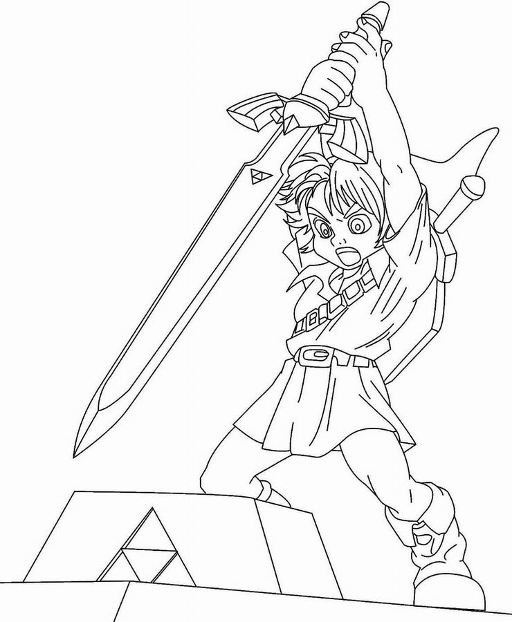 Zelda to print for free Zelda Kids Coloring Pages