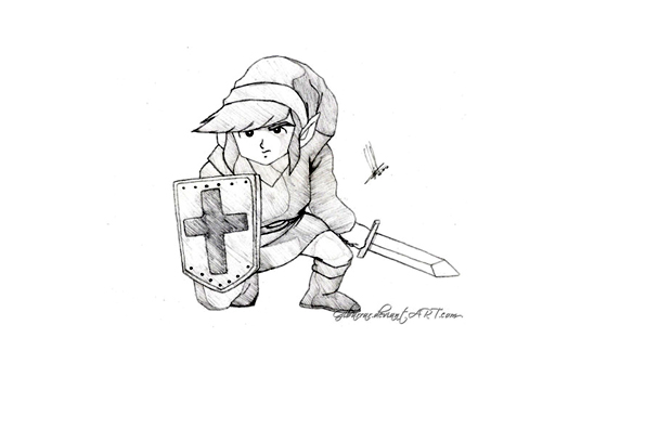 Simple Zelda coloring page for children