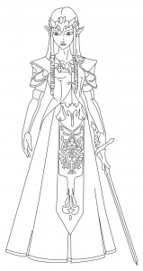 Coloring page zelda to download