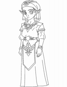 Coloring page zelda to print for free