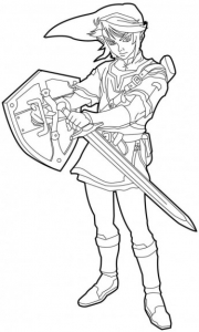 Coloring page zelda free to color for kids