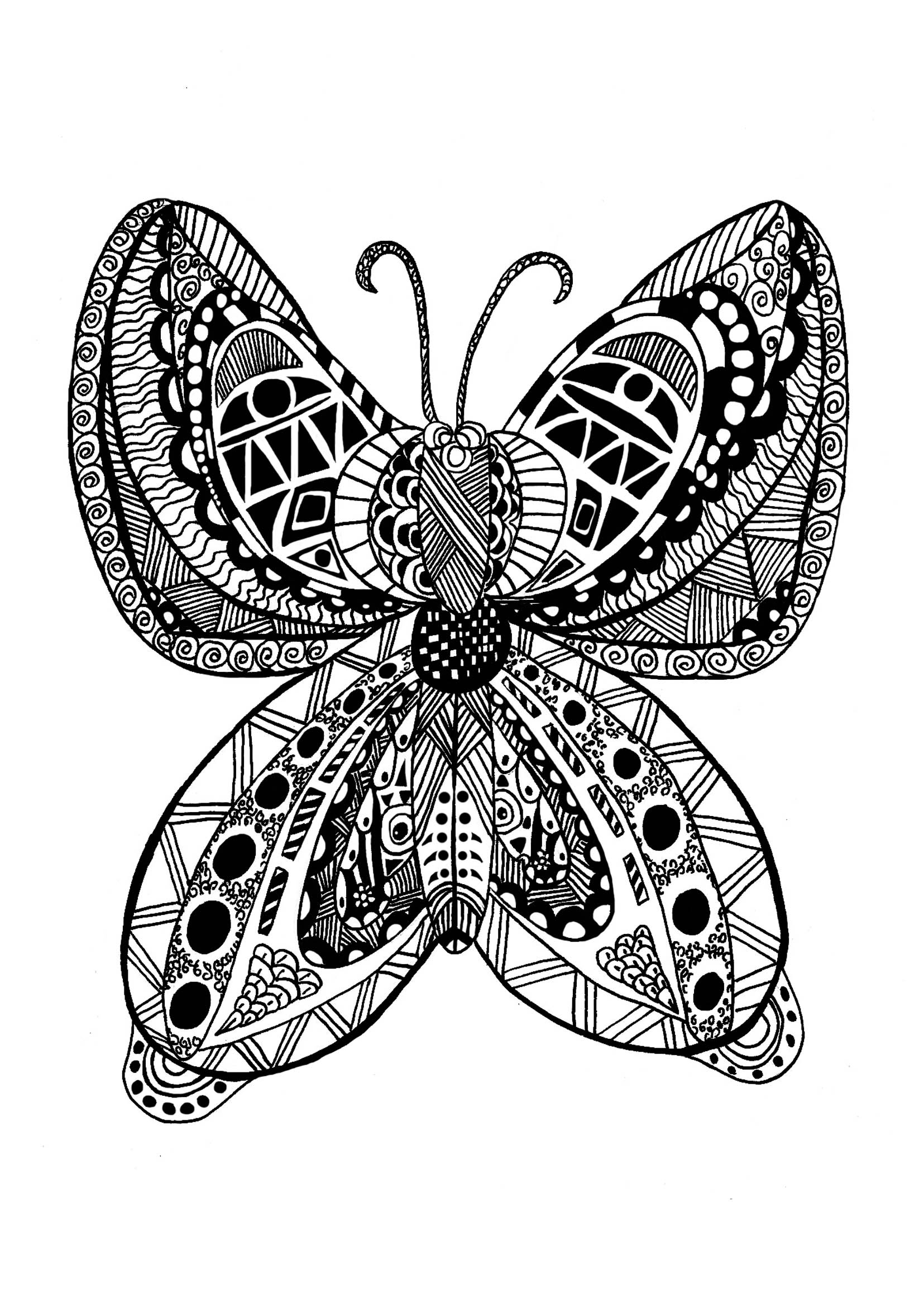 Beautiful Zentangle coloring page