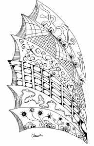 Coloring page zentangle for children