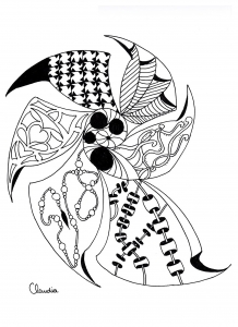 Coloring page zentangle to download