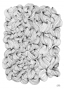 Coloring page zentangle to print