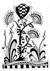 Coloring page zentangle free to color for kids