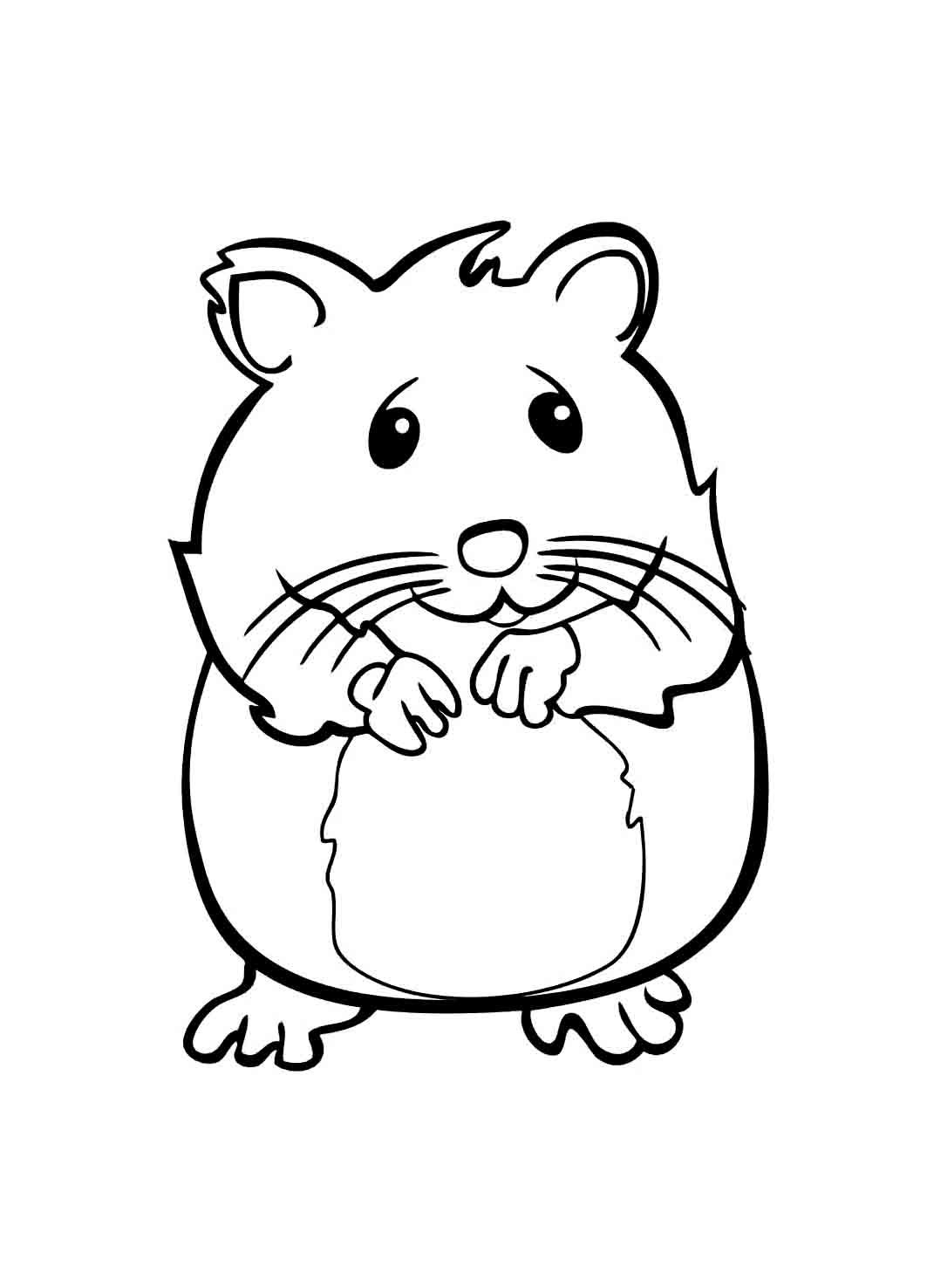 Zhu Zhu Pets coloring page with few details for kids