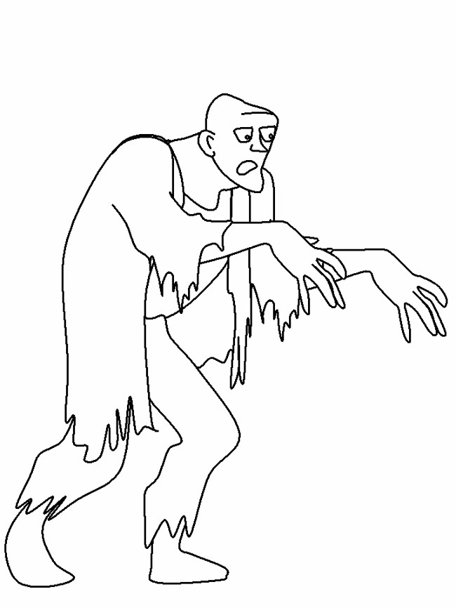 Free Zombies coloring page to download