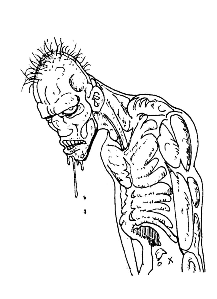 Incredible Zombies coloring page to print and color for free