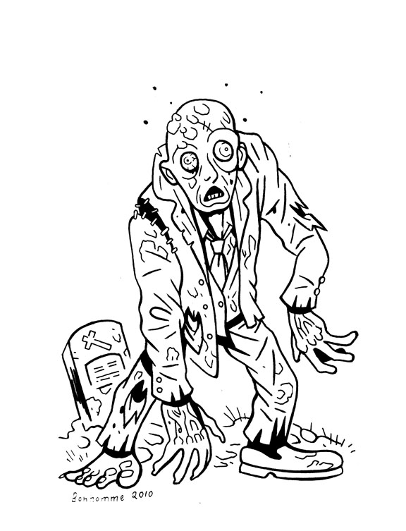 Beautiful Zombies coloring page to print and color