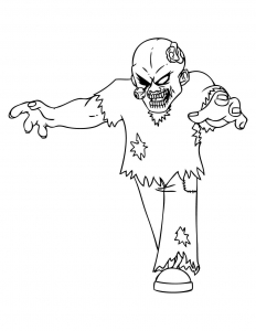 Coloring page zombies to download