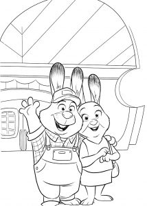 Coloring page zootopia to print