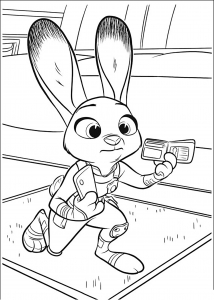 Coloring page zootopia to color for kids