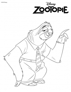 Coloring page zootopia free to color for children