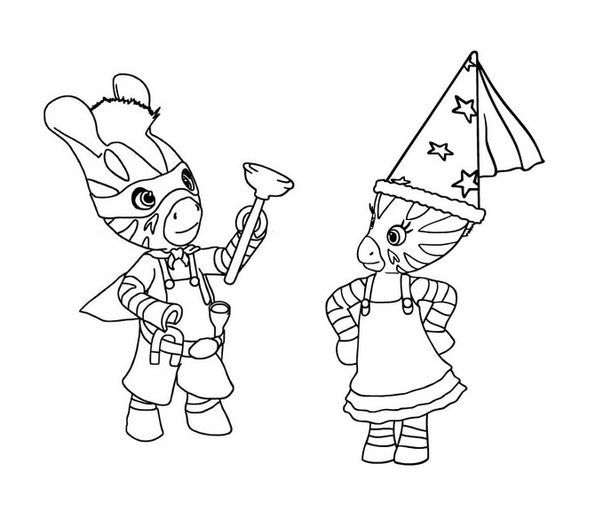 Simple Zou coloring page to print and color for free