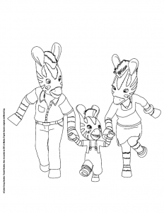 Coloring page zou for kids