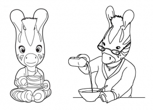 Coloring page zou to color for kids