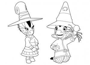 Coloring page zou free to color for kids