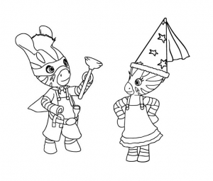 Coloring page zou to print