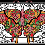 Butterflies & insects Coloring Pages for Adults