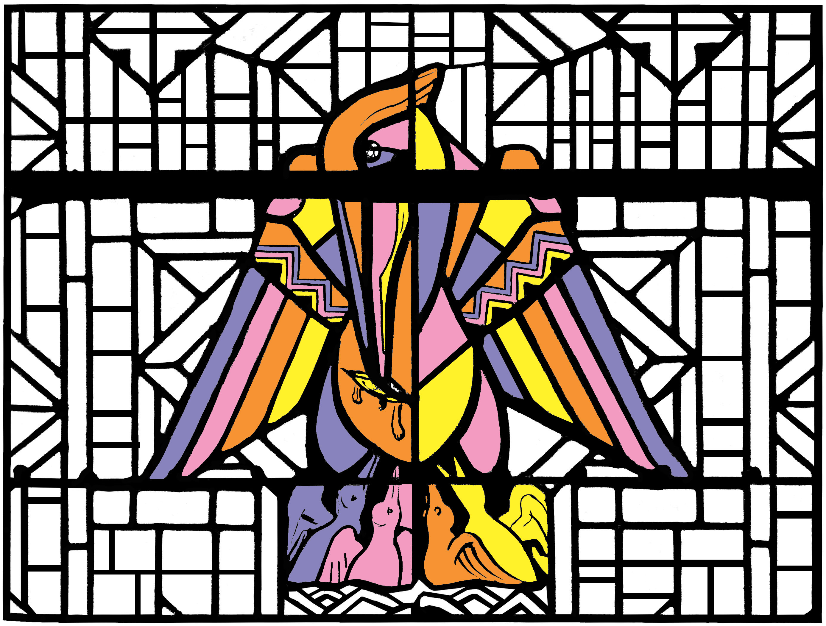 stained glass coloring pages for adults page 2
