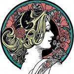 Art nouveau Coloring Pages for Adults