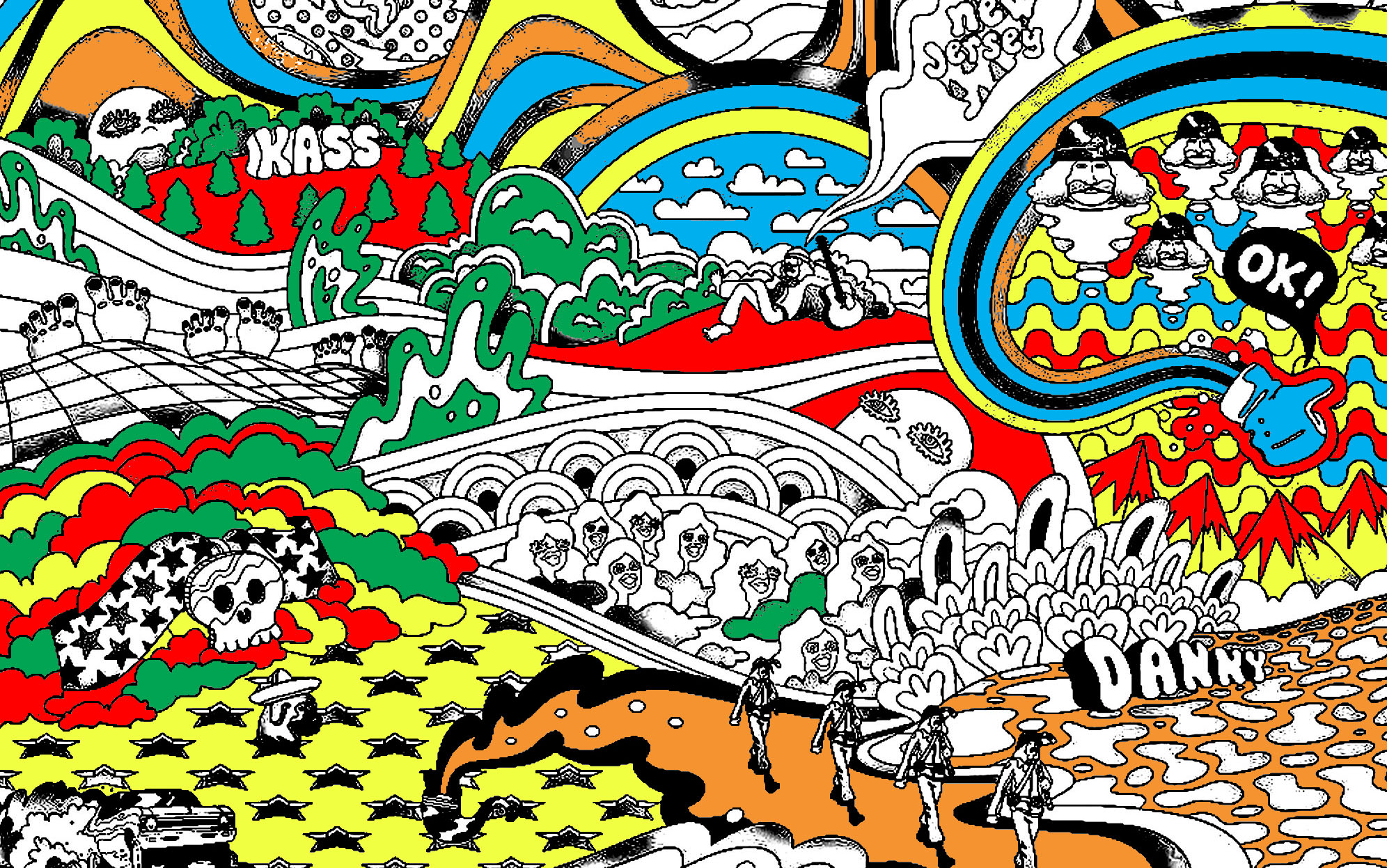 Pink Floyd Psychedelism Psychedelic Coloring Pages For