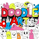 Doodle art / Doodling coloring pages for adults