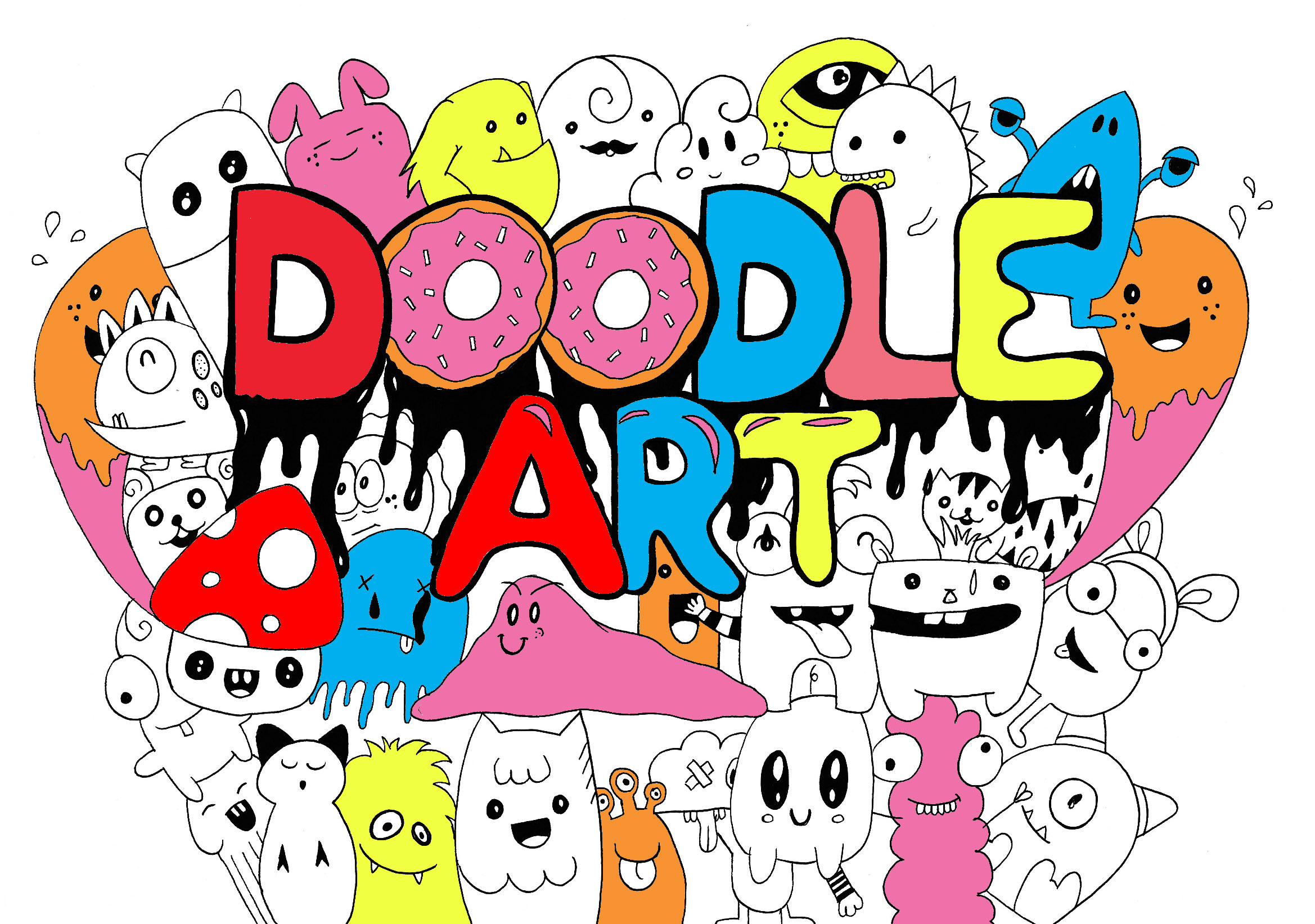 Doodling / Doodle art - Coloring pages for adults