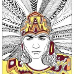 Mayans, Aztecs and Incas Coloring Pages for Adults