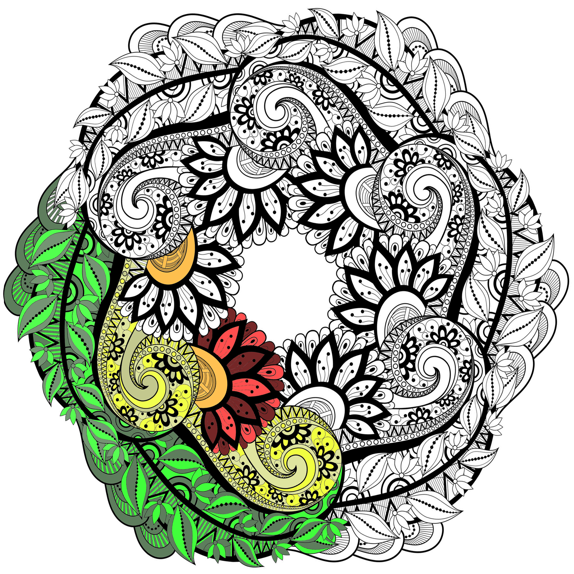 Mandalas Art Therapy Coloring Pages For Adults