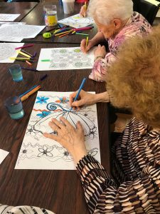 Coloring Pages And Well Being Of Retired In Residence For