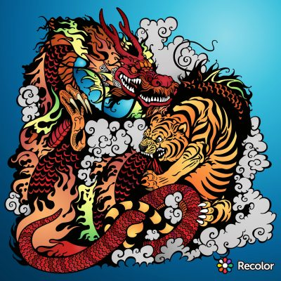 Recolor Coloring Book App For Adults Coloring Pages
